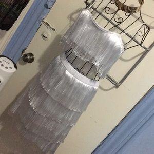 Dresses & Skirts - Satin Fringe Set